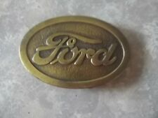 VINTAGE ADVERTISING BRASS FORD BELT BUCKLE ESTATE FIND