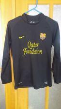 Lionel Messi 2010-2011 Nike FC Barcelona Jersey Manga Larga Negra Camiseta  Dri Fit 23a96573267