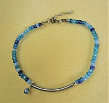 Stainless Steel Cute New Made in Usa Summer Beach Anklet Blues Ankle Bracelet In
