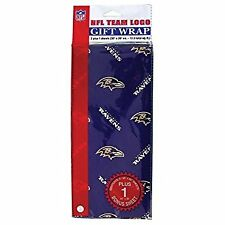 Baltimore Ravens Gift Wrap Sheets 12.5 sq. ft