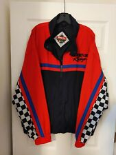 Vintage Snap On Tools Satin Jacket Performance Team Indy Car Racing Black XL