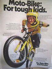 1974 Yamaha MOTO Bike Original Print Ad-8.5 x 10.5 '' BMX