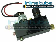 Adjustable Proportioning Valve Distribution Block Disc Drum Brake Street Rod Blk