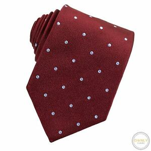 NWT Brooks Brothers Wine Red 100% Silk Polka Dot Iridescent Tipped Tie XL