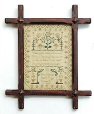 1817 Puritan Poem Mary Dunmall Aged 8 Years Stitched Needlework Sampler
