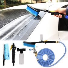 Car Wash Brush Water Spray Cleaning Tool Soft Bristle Switch Foam Bottle Kit NEW