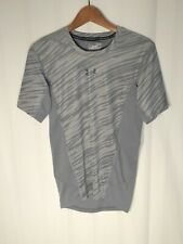 Under Armour Men's (Size M) Heat Gear Short Sleeve Gray Compression Shirt