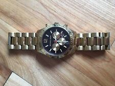 Men Michael Kors watch gold and Navy - Used