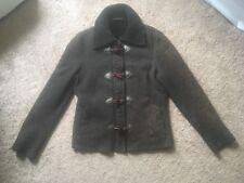 Pologeorgis Merino Shearling Jacket Coat Zippered XL