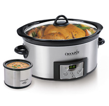 Crock Pot New Slow Cooker Programmable 6 Quart Oval Stainless Steel Large Cook