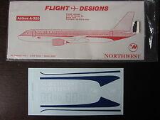 1/144 DECALS FLIGHT DESIGNS NORTHWEST AIRBUS A-320  DECALCOMANIE