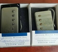 """Seymour Duncan Custom Shop """"A"""" PAF Humbucker Set 2007-Aged Nickel-Signed by S.D"""