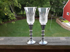 "2 Homco 11334 ""Crystal Windsor"" Peg Votive Candle Holders w/New Grommets Peglite"