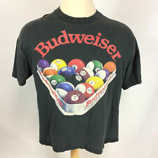 Vintage 80s 90s Budweiser Beer Pool Bar Saloon T Shirt Distressed Worn Busch USA