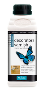 POLYVINE Quick-Dry Clear Acrylic Decorators Varnish - Dead Flat, Satin or Gloss