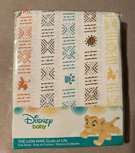 Disney Baby Lion King Circle of Life Fitted Crib Sheet - Brand New