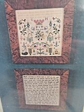 Scarlet Letter JESUS WEPT Counted Cross Stitch KIT