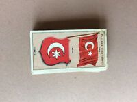 B1L cigarette card john player flags no 9 turkey