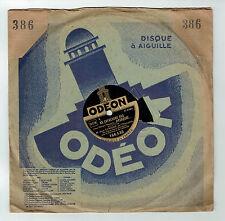 78T Jean LUMIERE Disque Phonographe LE TANGO DE LOLA Chanté ODEON 166530 RARE