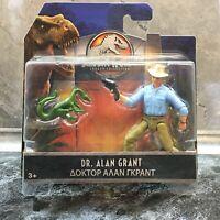 Jurassic World Dr. Alan Grant Figure Play Set Dinosaur Mattel NEU Rare
