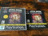 Star Wars Episode 1 The Phantom Menace – Playstation 1 PS1 Game with manual