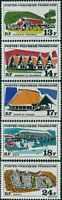 French Polynesia 1969 Sc#253-257,SG104-108 Polynesian Buildings set MNH
