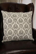 2 x Decorator Cushion Covers - 45x45cm Soft Grey Pattern Throw Pillow Covers NEW