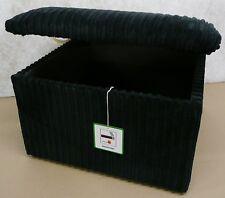 "Large Black Jumbo Cord Pouffe 24"" x 24"" x 14"" High /Storage Box/Footstool"