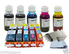 Refillable cartridges for Canon PGI-220 CLI-221 iP3600 iP4600 iP4700 + 5x4oz