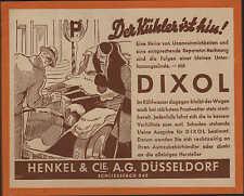 Werbung: DÜSSELDORF, um 1933, Henkel & Cie. AG Dixol für Kühlwasser Automobile