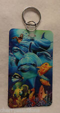 i dolphin KEYCHAIN photo business card ID 3d lenticular luggage bag tag