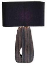 LAMPE à poser / de Chevet en BOIS Abat Jour NOIR - de Style ANNEES 50