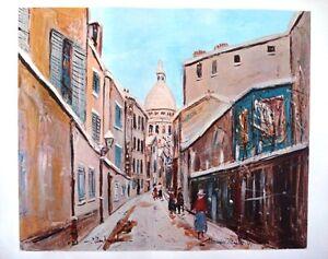 Maurice Utrillo - Montmarte - Vintage Color Art Lithograph