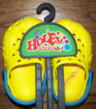 HOLEY SOLES - Critters - Yellow - Sz 4 - 5 - Child / Toddler - NEW!