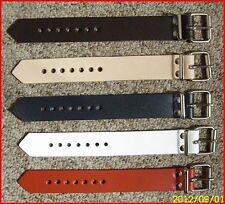 4 Cintura pelle Blu 18,0 x 2,5 cm Passeggino Fissaggio Difficoltà Baganhänger