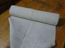A Homespun Linen Hemp/Flax Yardage 5 Yards x 19'' Plain  # 8317