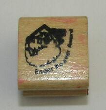 "Eager Beaver Award Rubber Stamp Wood Mounted School Teacher 1"""