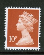 GB 10p Perf 14 Machin SG Y1676a With 2 Phos Bands -  Booklet DX21 U/M