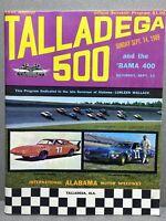 1969 1st Annual Talladega 500 Official Souvenir Program - Rare - Great Condition