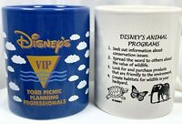 Vintage Walt DISNEY World VIP Animal Kingdom Programs Conservation Action Mugs