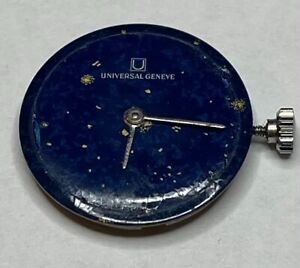 Universal Geneve watch movement 1- 42. 17 jewels, running with stem,dial,2 hands