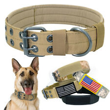 Nylon Dog Training Collars Canine Military Tactical Collar for K9 Medium & Large