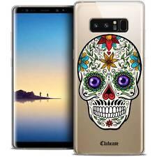 "Coque Crystal Gel Pour Samsung Galaxy Note 8 (6.3"") Extra Fine Souple Skull Mari"