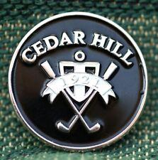 "Rare_ Limited Edition _ CEDAR HILL 1921  1"" Ni-Silver Plated Golf Ball Marker"