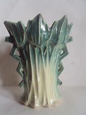 "Rare! Vintage Original McCoy Pottery Large Celery Petal Vase. 9 3/8"" Tall."
