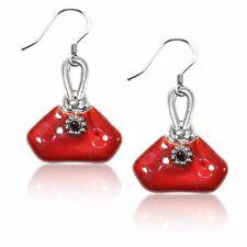 French Purse Charm Earrings in Silver