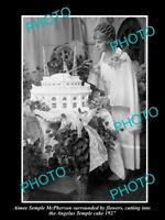 OLD LARGE HISTORIC PHOTO OF AMERICAN EVANGELIST AMIEE SEMPLE McPHERSON c1927