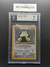 1999 Pokemon Jungle Holo Snorlax 11/64 BGS 9 MINT Unlimited PSA 10 CGC