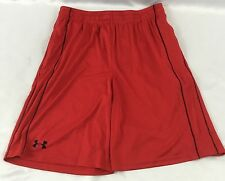 Under Armour MEN'S Athletic Basketball Gym Shorts Loose Heat Gear Red Size M