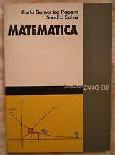 MATEMATICA - ANNO 2002 - ZANICHELLI Pagani e Salsa